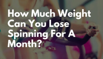 How much weight can you lose spinning for a month?